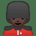 💂🏿♂️ man guard: dark skin tone Emoji on Google Platform