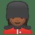 💂🏾♀️ woman guard: medium-dark skin tone Emoji on Google Platform