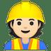 👷🏻 construction worker: light skin tone Emoji on Google Platform
