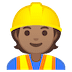 👷🏽 construction worker: medium skin tone Emoji on Google Platform