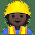 👷🏿 construction worker: dark skin tone Emoji on Google Platform