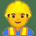 👷♂️ man construction worker Emoji on Google Platform