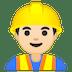 👷🏻♂️ man construction worker: light skin tone Emoji on Google Platform