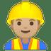 👷🏼♂️ man construction worker: medium-light skin tone Emoji on Google Platform