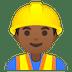 👷🏾♂️ man construction worker: medium-dark skin tone Emoji on Google Platform