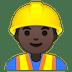 👷🏿♂️ man construction worker: dark skin tone Emoji on Google Platform