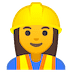 👷‍♀️ woman construction worker Emoji on Google Platform