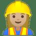 👷🏼♀️ woman construction worker: medium-light skin tone Emoji on Google Platform