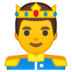 🤴 Prince Emoji on Google Platform