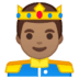 🤴🏽 prince: medium skin tone Emoji on Google Platform