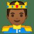 🤴🏾 prince: medium-dark skin tone Emoji on Google Platform