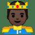 🤴🏿 prince: dark skin tone Emoji on Google Platform