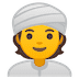 👳 Person Wearing Turban Emoji on Google Platform