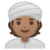 👳🏽 person wearing turban: medium skin tone Emoji on Google Platform