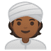 👳🏾 person wearing turban: medium-dark skin tone Emoji on Google Platform
