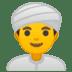👳♂️ man wearing turban Emoji on Google Platform