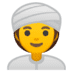 👳‍♀️ woman wearing turban Emoji on Google Platform