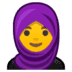🧕 woman with headscarf Emoji on Google Platform