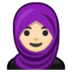 🧕🏻 woman with headscarf: light skin tone Emoji on Google Platform