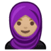 🧕🏼 woman with headscarf: medium-light skin tone Emoji on Google Platform
