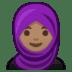 🧕🏽 woman with headscarf: medium skin tone Emoji on Google Platform