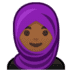 🧕🏾 woman with headscarf: medium-dark skin tone Emoji on Google Platform