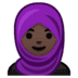 🧕🏿 woman with headscarf: dark skin tone Emoji on Google Platform