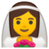 👰 bride with veil Emoji on Google Platform