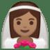 👰🏽 bride with veil: medium skin tone Emoji on Google Platform
