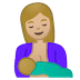 🤱🏼 breast-feeding: medium-light skin tone Emoji on Google Platform