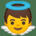 👼 baby angel Emoji on Google Platform