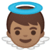 👼🏽 baby angel: medium skin tone Emoji on Google Platform