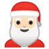 🎅🏻 Santa Claus: light skin tone Emoji on Google Platform