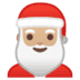 🎅🏼 Santa Claus: medium-light skin tone Emoji on Google Platform