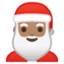 🎅🏽 Santa Claus: medium skin tone Emoji on Google Platform