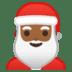 🎅🏾 Santa Claus: medium-dark skin tone Emoji on Google Platform