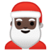 🎅🏿 Santa Claus: dark skin tone Emoji on Google Platform