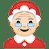 🤶🏻 Mrs. Claus: light skin tone Emoji on Google Platform