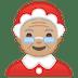 🤶🏼 Mrs. Claus: medium-light skin tone Emoji on Google Platform
