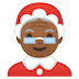 🤶🏾 Mrs. Claus: medium-dark skin tone Emoji on Google Platform