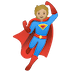 🦸🏼 superhero: medium-light skin tone Emoji on Google Platform