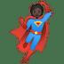 🦸🏿 superhero: dark skin tone Emoji on Google Platform