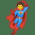 🦸♂️ man superhero Emoji on Google Platform