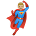 🦸🏼‍♂️ man superhero: medium-light skin tone Emoji on Google Platform
