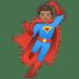 🦸🏽♂️ man superhero: medium skin tone Emoji on Google Platform