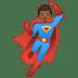 🦸🏾♂️ man superhero: medium-dark skin tone Emoji on Google Platform