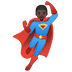 🦸🏿‍♂️ man superhero: dark skin tone Emoji on Google Platform