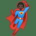 🦸🏿♂️ man superhero: dark skin tone Emoji on Google Platform