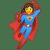 🦸♀️ woman superhero Emoji on Google Platform