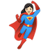 🦸🏻‍♀️ woman superhero: light skin tone Emoji on Google Platform